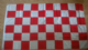 Red and White Checkered Large Flag - 5' x 3'.